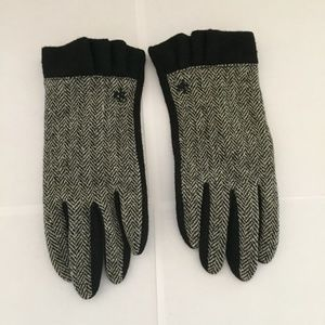 Ralph Lauren black/white gloves